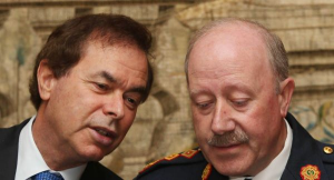 Minister Alan Shatter and former Commissioner Martin Callinan