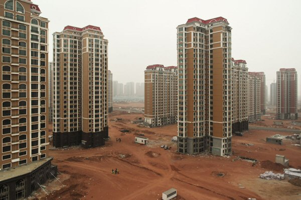 Partly-built ghost city in China